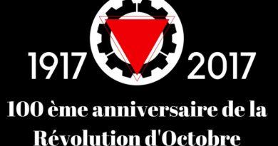 Déclaration de l'UCL concernant le 100ème anniversaire de la révolution d'Octobre.