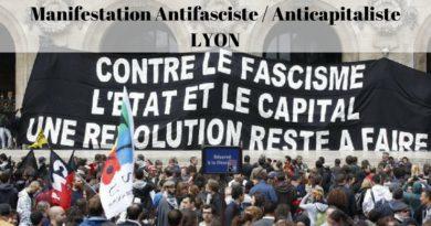Appel à la manifestation Antifasciste / Anticapitaliste du 17 / 12 / 17