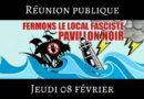 Réunion publique sur le Pavillon Noir, local fasciste de Lyon