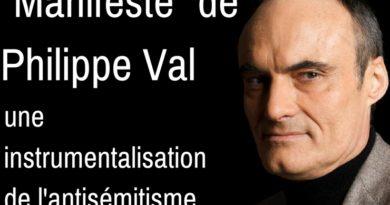 Manifeste de Philippe Val contre l'antisémitisme moderne : Une instrumentalisation.