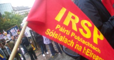 Solidarité Internationale pour Sean Carlin, militant communiste Irlandais condamné à 3 ans de prison le 14 décembre par la justice Britannique.