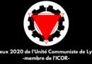 Vœux de l'Unité Communiste de Lyon pour l'année 2020.